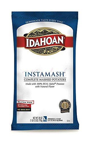 UPC 029700003012, Idahoan Seasoned Instamash Mashed Potato Flakes, 28 Ounce -- 12 per case.