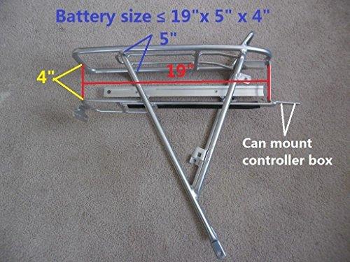 Electric bike battery rear rack fits 26