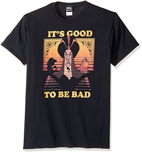 Disney Men's Aladdin Jafar It's Good to Be Bad Graphic T-Shirt, Black, XL