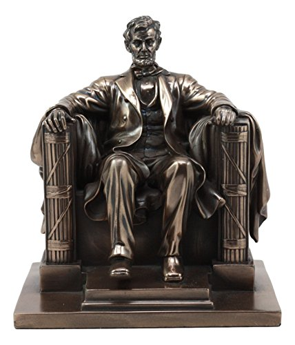 """Ebros Bronzed Seated Abraham Lincoln Figurine 8"""" H for sale  Delivered anywhere in USA"""