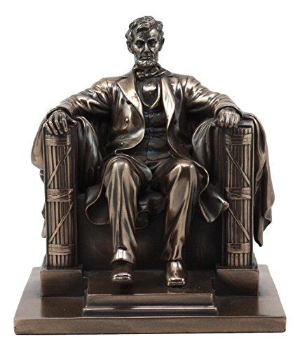 Ebros Bronzed Seated Abraham Lincoln Figurine 8