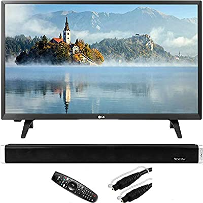 "LG 28LJ430B-PU 28""-Class HD 720p LED TV with Vivitar 24-Inch Wall Mountable Wireless Bluetooth Soundbar and 6ft Optical Toslink 5.0mm OD Audio Cable"