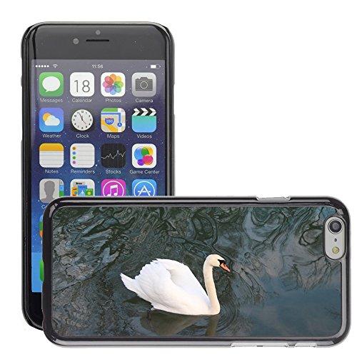 "Bild Hart Handy Schwarz Schutz Case Cover Schale Etui // M00135106 Swan Rheintier // Apple iPhone 6 PLUS 5.5"""