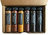 Foodie Spice Gift Set by Crimson and Clove - Includes Aleppo pepper, Vietnamese cinnamon, sumac, Urfa Bieber, cardamom, black Hawaiian salt, red Hawaiian salt and more!
