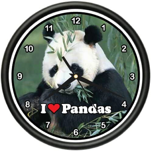 Panda Bear Wall Clock Giant Animal Zoo Collector Gift