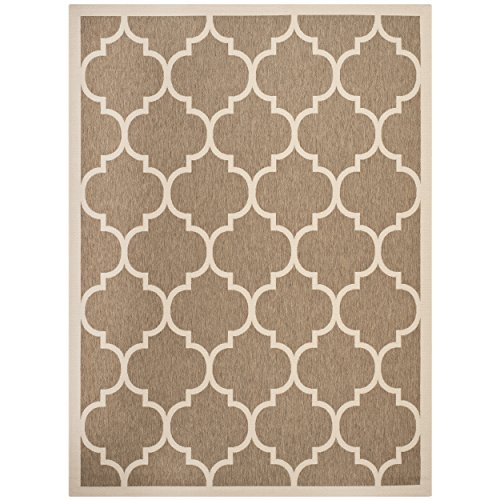 12x12 Bone (Safavieh Courtyard Collection Brown and Bone Indoor/ Outdoor Area Rug (9' x 12'))