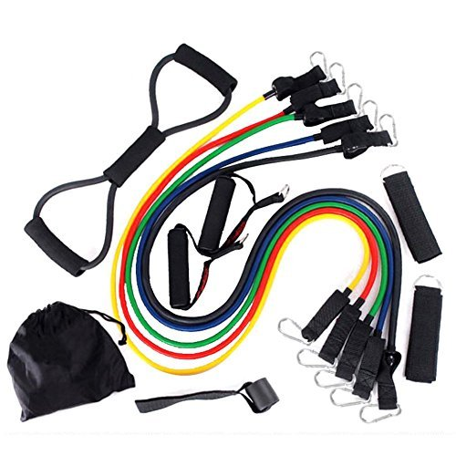 Hrph Exercise Elastic Training Bands Resistance Bands 12 in 1 Set