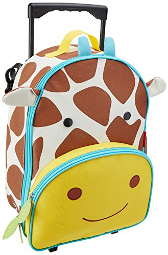 Skip Hop Zoo Little Kid & Toddler Travel Rolling Luggage Backpack (Ages 3+), Multi, Jules Giraffe