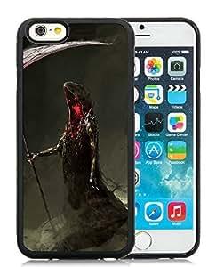 Custom-ized Phone Case iPhone 6 Case,Halloween Black iPhone 6 4.7 Inch TPU Case 17