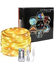 Led luces de cuerda, Afufu 10M String Lights con alimentación USB, 100 luces del tubo del LED al aire libre con 8 modos, IP65 a prueba agua luces tira para decoraciones de la Navidad