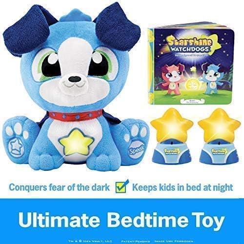 Starshine Watchdogs ORION Night Light Stuffed Animal Plush Bedtime Sleep Toy, Remote Control Nightlights, Comforting Phrases