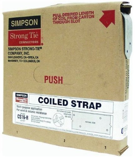 4 Pack Simpson Strong Tie CS16-R 16-gauge Coiled Strap 1-1/4'' x 25' by Simpson Strong-Tie
