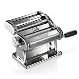 Marcato Atlas Pasta Machine, Stainless Steel, Includes Pasta Cutter, Hand Crank, and Instructions