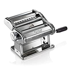 Marcato's Original World-Famous Atlas Pasta Machine, called the Ferrari of the pasta machine world by Cook's Illustrated, rolls and cuts pasta dough for making traditional Italian pasta at home. Nothing tastes better than fresh authentic home...
