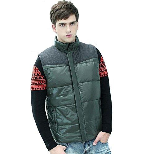 SDVBDFBGS GXS Plus Größe Feder Weste. Hinzufügen von Dünger XL locker ärmellose Jacken. Winter tragen übergroße, ärmellose Jacke. Herrenmantel