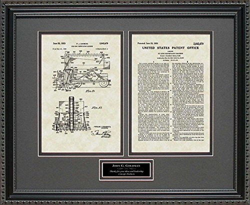 Zamboni Patent Art Wall Hanging | Hockey Personalized for sale  Delivered anywhere in USA