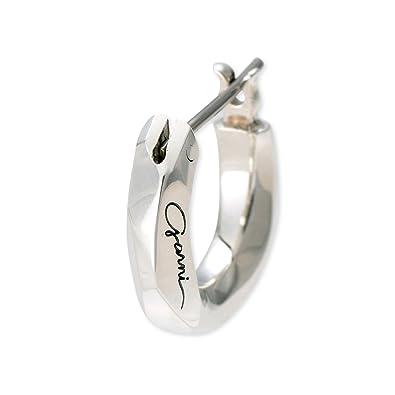 3e637c572b9128 Amazon   [ガルニ]GARNI メンズ ピアス 片耳用 シルバー フープピアス ...