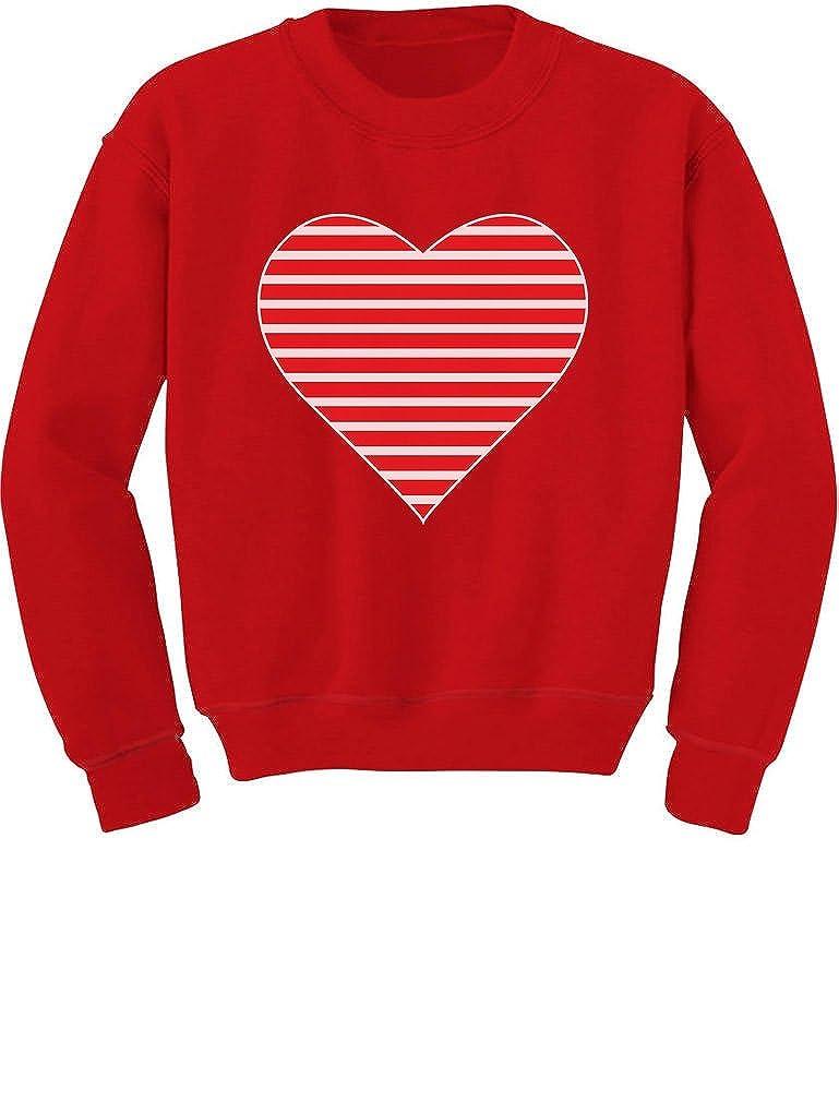 Tstars - Red Striped Heart Love - Valentine's Day Gift Toddler/Kids Sweatshirt GM0Phalgf5