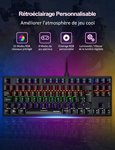 TECKNET Clavier Gamer Mécanique, Clavier - Actualités des Jeux Videos