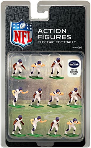 (Seattle Seahawks Away Jersey NFL Action Figure Set)