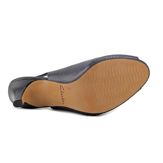 Amazon.com | Clarks Womens Heavenly Leah Open Toe Casual Ankle Strap Sandals | Shoes