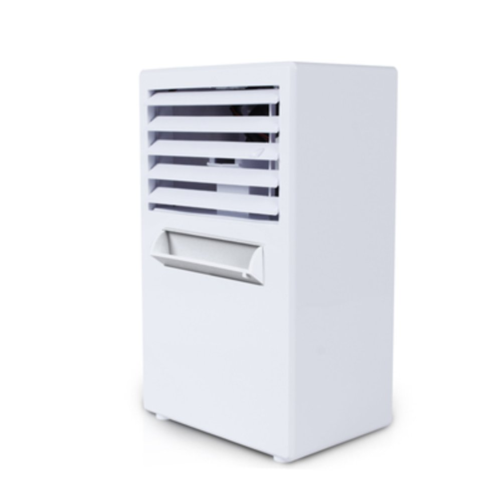 JiaQi Mini Air Cooler,Usb Air Conditioning,Humidifier Personal Space Cooler Outdoor Camping Office Home-White 14.5x10x25cm(6x4x10inch)