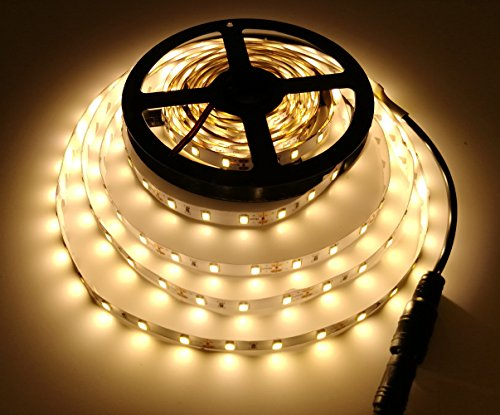 16.4ft LED High brightness Flexible Light Strip,300 Units SMD 5630 LEDs,12V DC Non-Waterproof 3000-3500K, Light Strips,Christmas Holiday Home Kitchen Car Bar Indoor - No Power Supply (Warm White)
