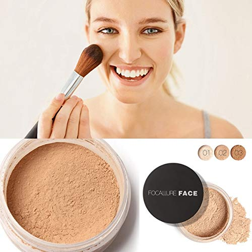 Xixou Women Face Cosmetic Beauty Pro Powder Loose Powder Waterproof Skin Finish Powder 3 Colors Vests