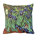 fine patio cover design ideas Yutoa-Design Irises Van Gogh Fine Art Pillow Cover Sofa Home Decorative Throw Pillow Case Gift Ideas Household Zippered Cushion Covers 18X18Inch