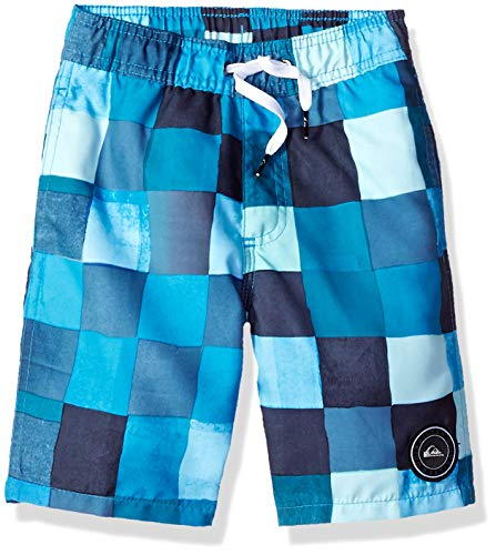 - Quiksilver Little Resin Check Volley BOY 14 Boardshort, Malibu, 4