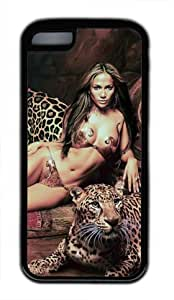 Customizablestyle Famous Singer Jennifer Lopez iPhone 5C TPU Black Rubber Shell Case