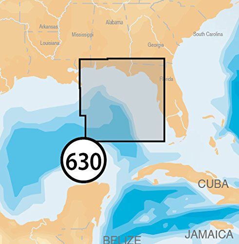 Navionics Platinum Plus 630P+ East Gulf of Mexico Marine Charts on SD/MSD