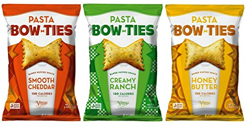 Vintage Italia Non-GMO Pasta Bowties Snacks 3 Flavor Variety Bundle, 1 each: Smooth Cheddar, Creamy Ranch, Honey Butter - 5 Ounces (Snack Vintage)