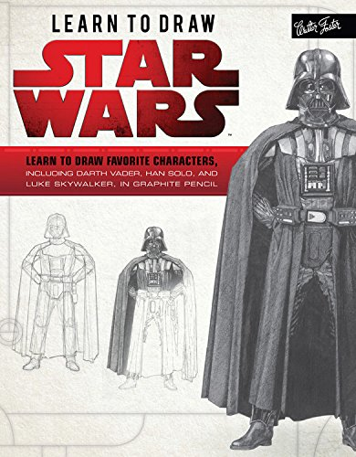 Learn to Draw Star Wars: Learn to draw favorite characters, including Darth Vader, Han Solo, and Luke Skywalker, in graphite pencil