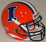 NCAA Illinois Illini Fighting Mini Helmet, One Size, White