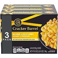 Cracker Barrel Sharp Cheddar Macaroni & Cheese 3 - 14 oz Boxes