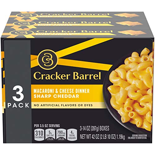 Cracker Barrel Sharp Cheddar Macaroni & Cheese (42 oz Boxes, Pack of 3)