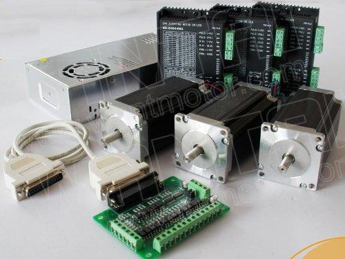 Gowe 3 Axis Nema23 Stepper Motor 425oz,3.0A & driver DQ542A4M.2A CNC Router Plasma 3D Printer by Gowegroup Stepper Motor