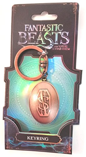 (Fantastic Beasts and Where to Find Them Picture Holder Keychain Key ring Pewter Color Metal Figural)