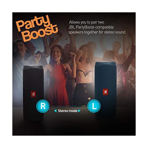 JBL Flip 5 Enceinte Bluetooth Portable avec Batterie Rechargeable, Étanche, Compatible Siri et Google, Bleu 7