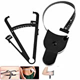 Weight Loss Tape Measure, Personal Body Fat Tester Calipers with Tape Measure and Fat Charts Fitness Measure Waist Arms and Thigns Fat Measuring