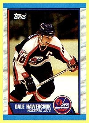 1989-90 Topps #122 Dale Hawerchuk winnipeg jets