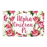 Alpha Omicron Pi Rose Pattern Letter Sorority Flag Banner Greek Letter 3 x 5 Feet Sign Decor AOII For Sale