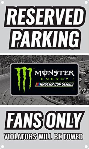 Parking Nascar Sign (NASCAR Reserved Parking for Nascar Fans Only Sign-NASCAR Metal Parking Sign)