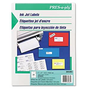 Pres a ply inkjet address labels 1 x 4 for Pres a ply templates