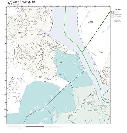 Hudson Ny Map >> Amazon Com Zip Code Wall Map Of Cornwall On Hudson Ny Zip