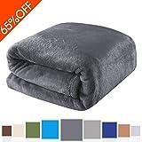 Balichun Luxury 330 GSM Fleece Bed Blanket Super Soft Warm Fuzzy Lightweight Throw or Couch Blanket Twin/Queen/King Size (Dark Gray,Queen)