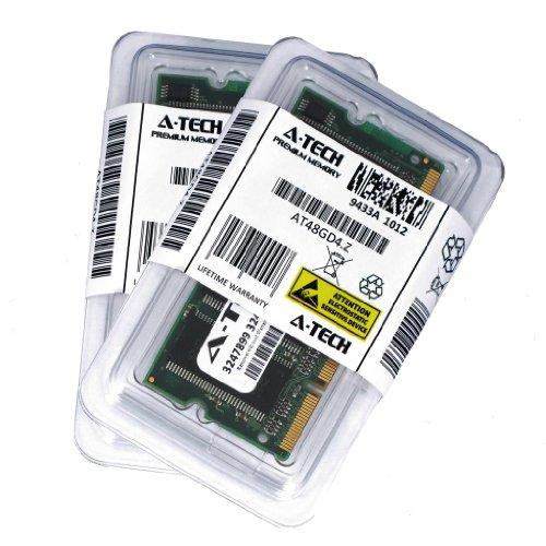 2GB Kit (1GB x 2) DDR PC2700 Laptop Memory Ram Module 200-pin SODIMM, 333MHz 2700 Genuine A-Tech ()