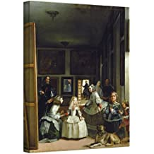 """Art Wall """"Las Meninas or The Family of Philip IV"""" Gallery Wrapped Canvas by Diego Velazquez, 36 by 44-Inch"""