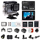 SJCAM SJ6 with 3pcs Batteries and 1pcs Dual Charger 2'' LCD Touch Screen 4K Action Camera Sports DV WIFI DVR-Black